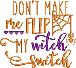 My Witch Switch embroidery design