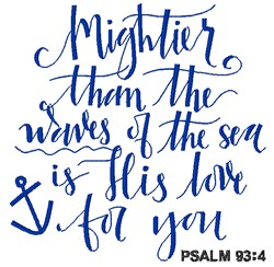 Mightier Than Waves embroidery design