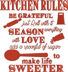 Kitchen Rules embroidery design