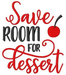 Room For Dessert embroidery design