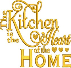 The Kitchen embroidery design