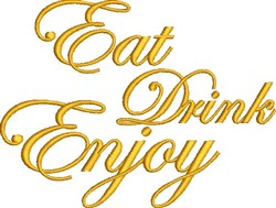 Eat Drink Enjooy embroidery design