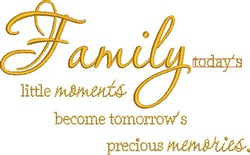 Family Moments embroidery design