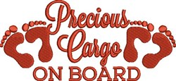 Precious Cargo embroidery design