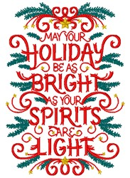Holiday Bright embroidery design