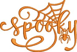 Spooky Spider embroidery design