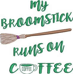 My Broomstick embroidery design