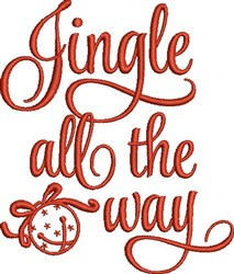 Jingle All The Way embroidery design