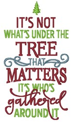 Under The Tree embroidery design