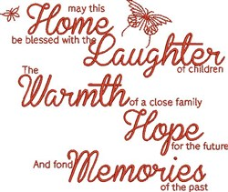 Home Be Blessed embroidery design