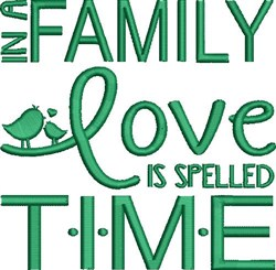 Love Is Time embroidery design