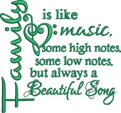 Family Like Music embroidery design