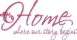Our Story Begins embroidery design