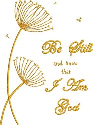 Be Still embroidery design