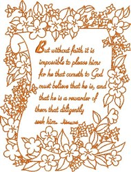 Without Faith embroidery design