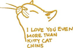 Kitty Cat Chins embroidery design