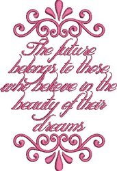 Beauty Of Dreams embroidery design