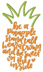 Be A Pineapple embroidery design