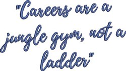 Careers embroidery design