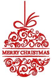 Merry Christmas Ball embroidery design