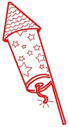 Firework Rocket embroidery design