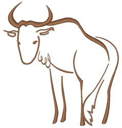 Wildebeest embroidery design