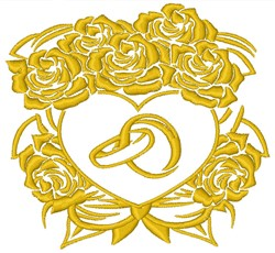 Floral Heart Wings embroidery design