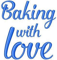 Baking With Love embroidery design