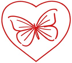 Heart Valentine embroidery design