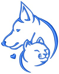Dog And Cat embroidery design