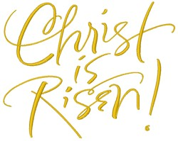 Christ Is Risen embroidery design