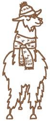 Holiday Llama embroidery design