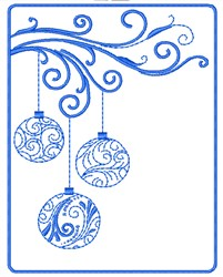 Framed Ornaments embroidery design