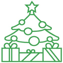 Gifts Under Christmas Tree embroidery design