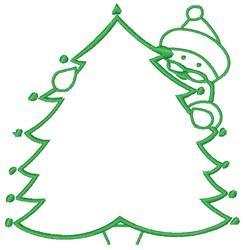 Santa and Christmas Tree embroidery design