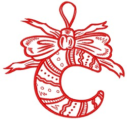 Vintage Christmas Ornament embroidery design
