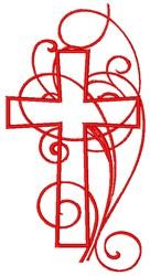 Swirly Cross embroidery design