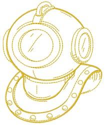 Deep Diving Helmet embroidery design
