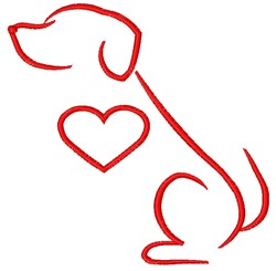 Dog embroidery design