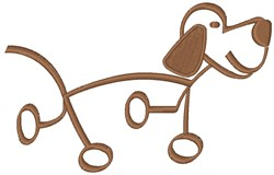 Dog Stick Figure embroidery design