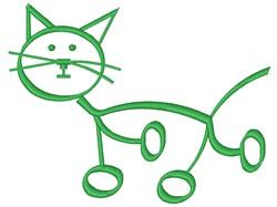 Cat Stick Figure embroidery design