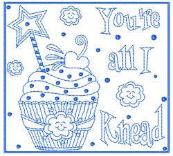 Youre All I Knead embroidery design