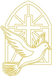 Dove Window embroidery design