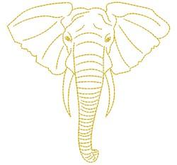 Elephant embroidery design