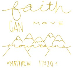 Move Mountains embroidery design