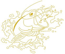 Bass Fish embroidery design