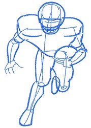 Football Player Doodle embroidery design