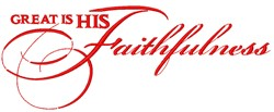 Great Is His Faithfulness embroidery design