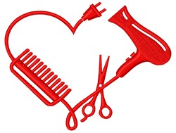 Hair Styling Tools embroidery design