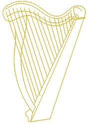 Harp embroidery design